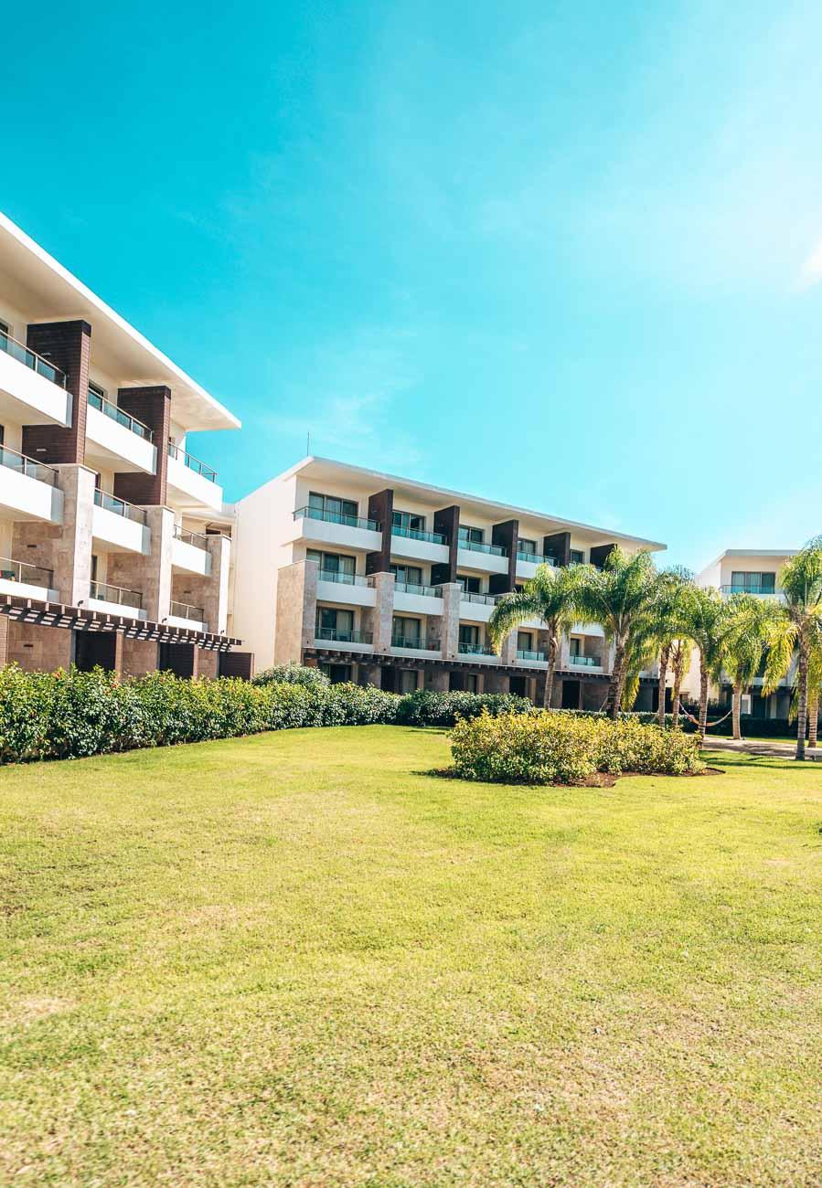 Hotel buildings tropical