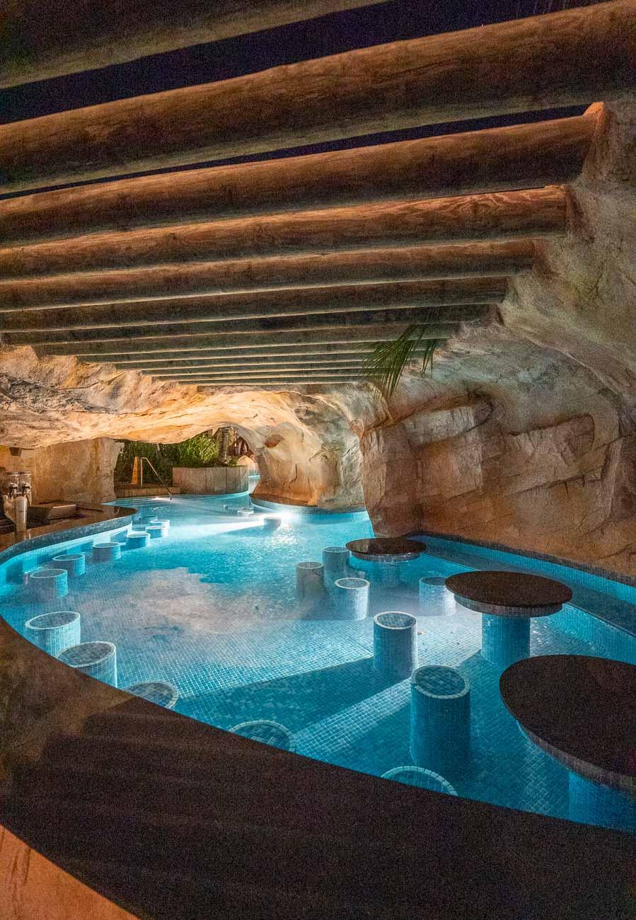 cave bar at resort