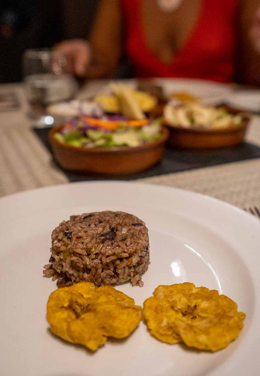 appetizer with tostones