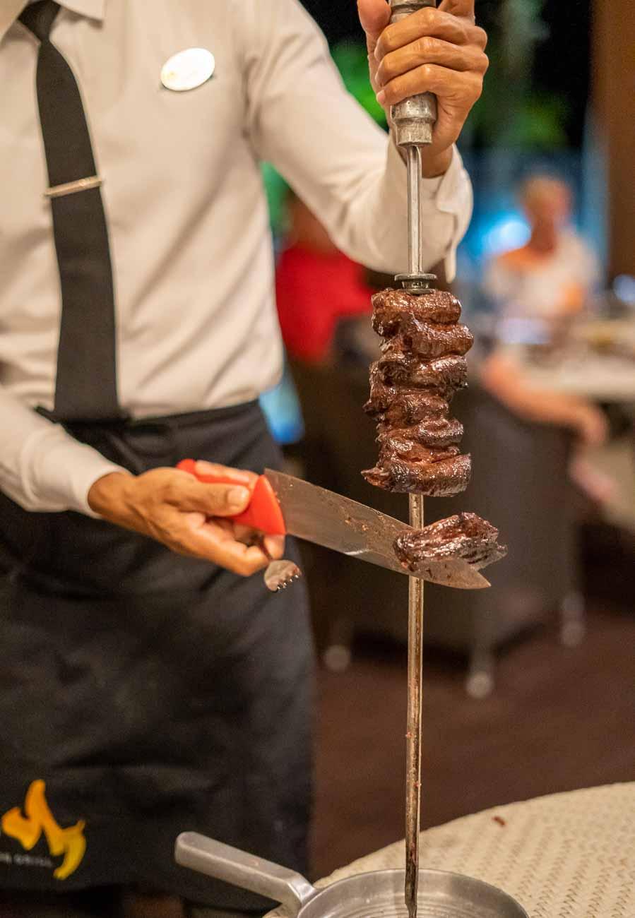 brazilian steakhouse server