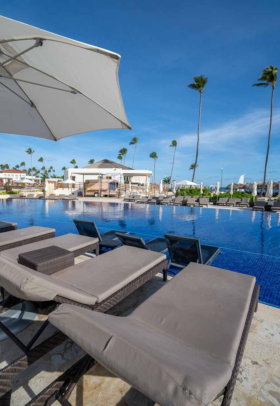 pool at modern resort