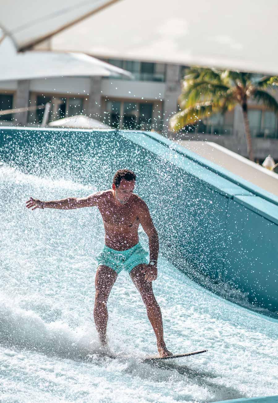 surf wave machine at hotel