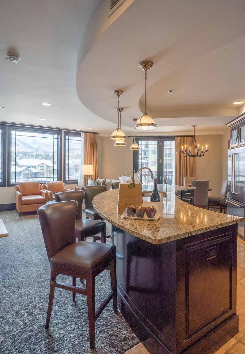 Waldorf Park City king bed suite bar