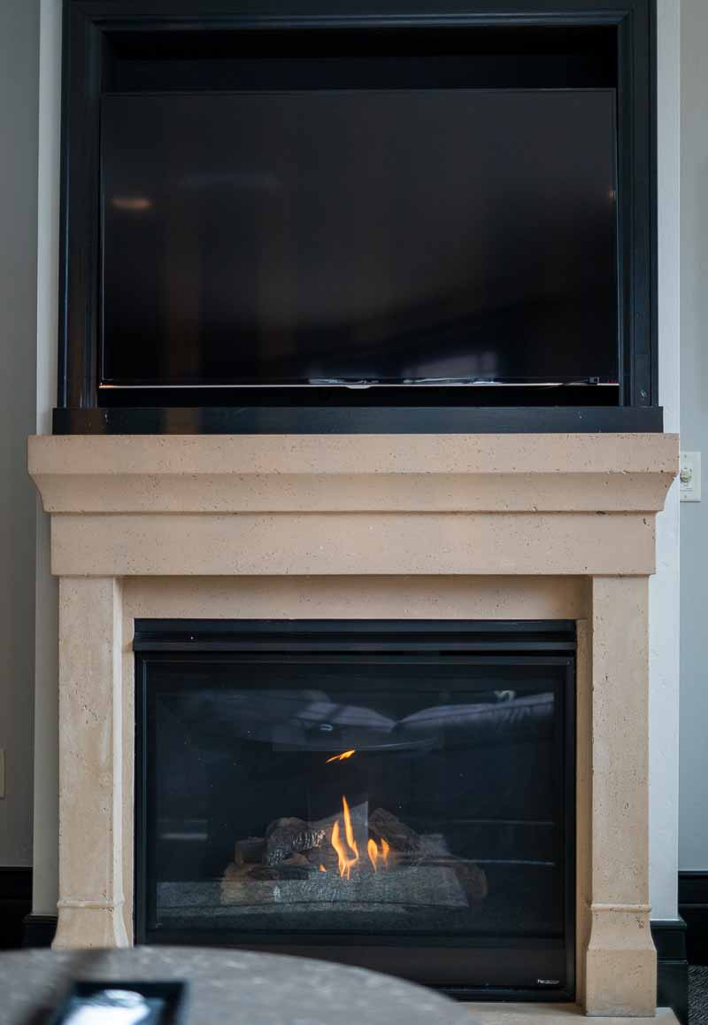 Waldorf Park City king bed suite fireplace