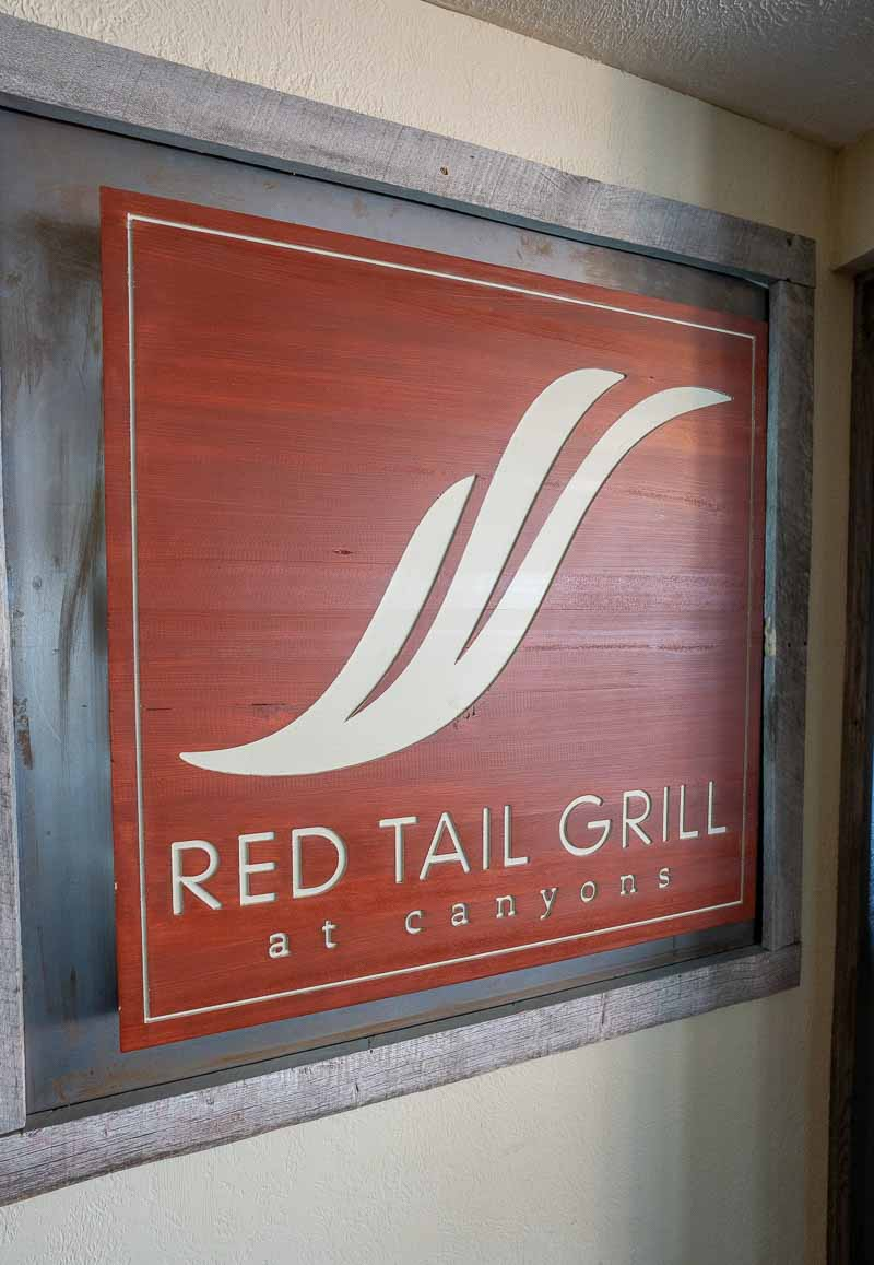 red tail grill sign grand summit park city