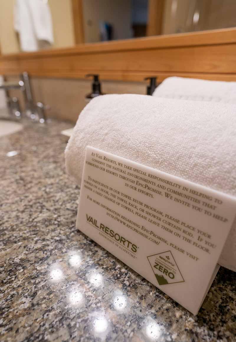 bathroom towel card grand summit park city
