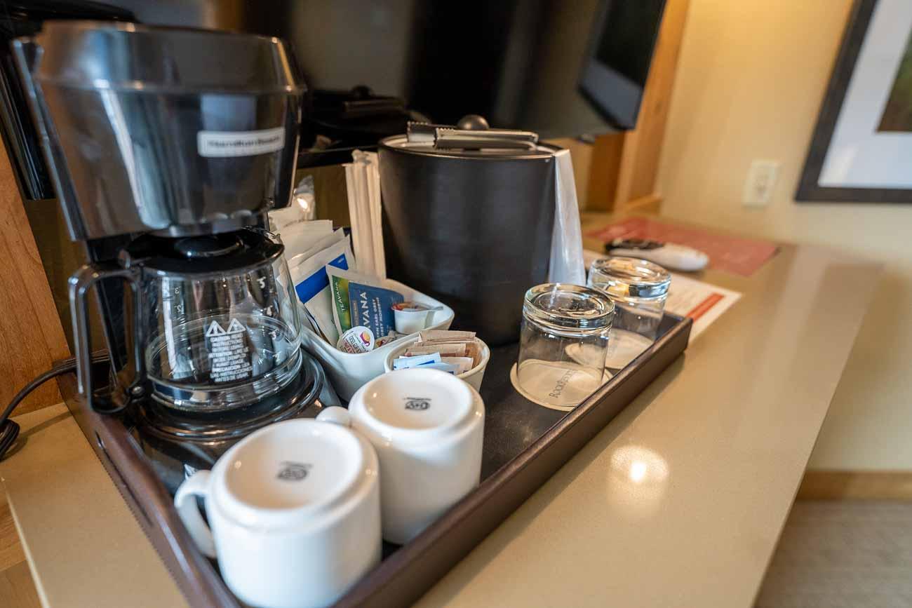 hotel amenities coffee machine grand summit park city