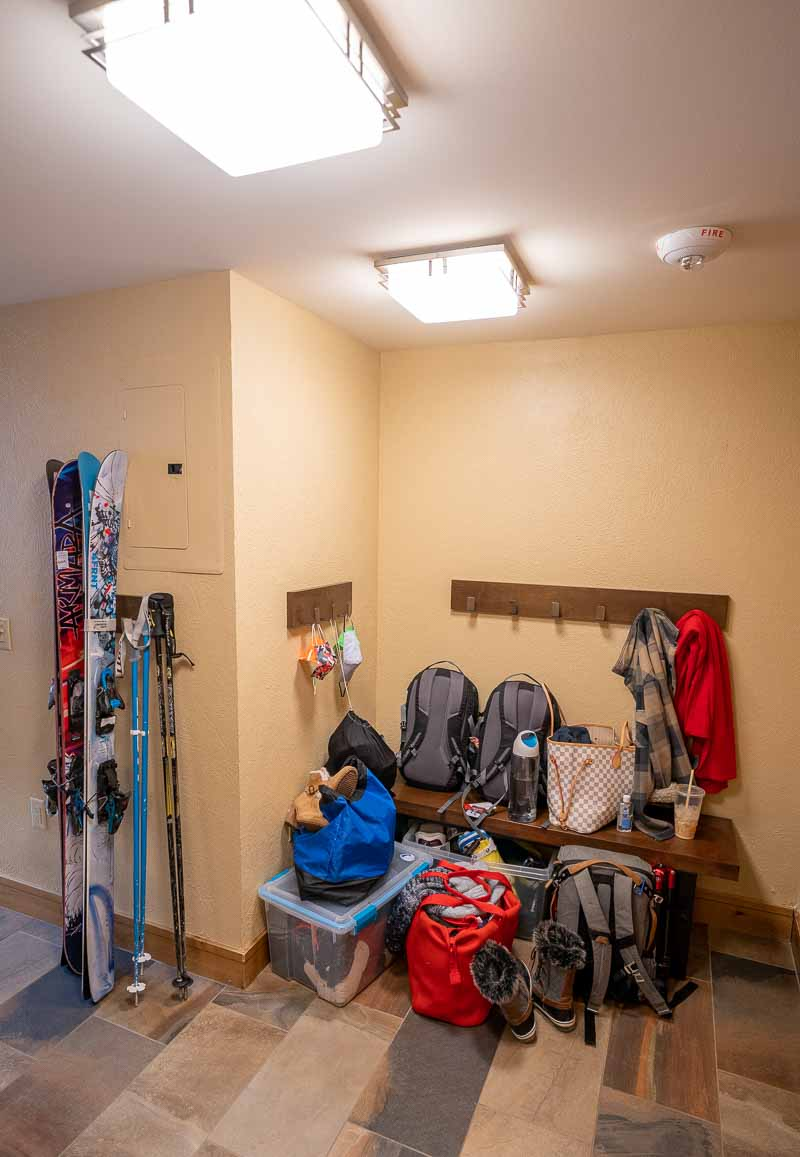 mudroom in one bedroom suite grand summit park city