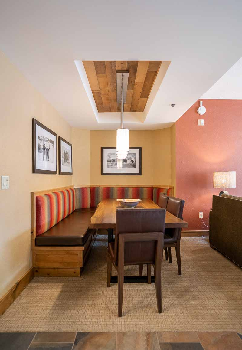 dining table in one bedroom suite grand summit park city