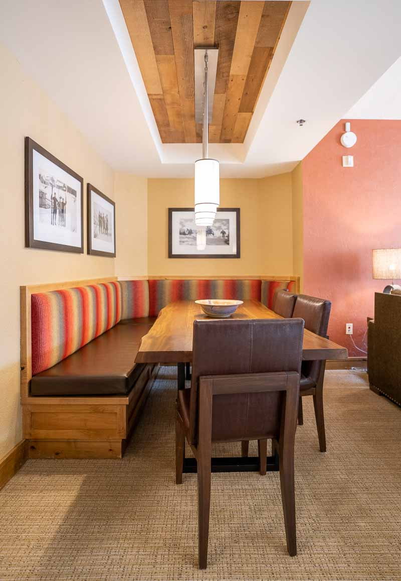 hotel room dining table one bedroom suite grand summit park city