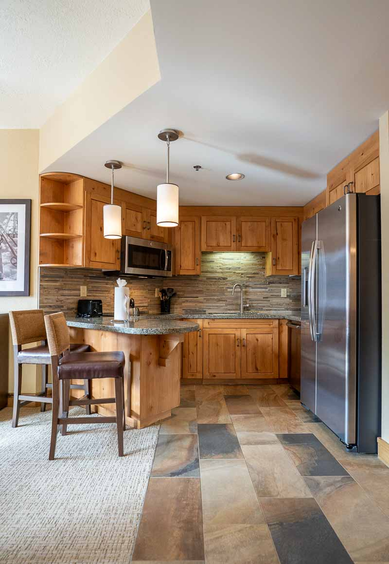 kitchen in one bedroom suite of grand summit park city
