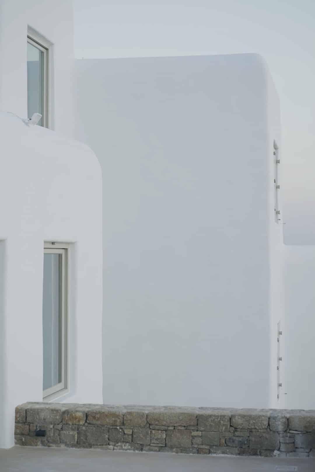 traditional white architecture mykonos
