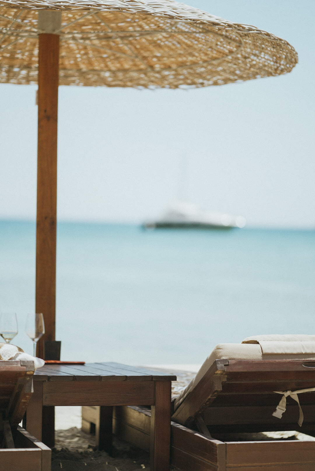yacht views from the beach clubs in mykonos