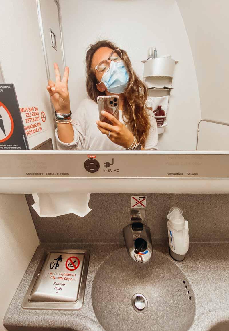 air france business class bathroom
