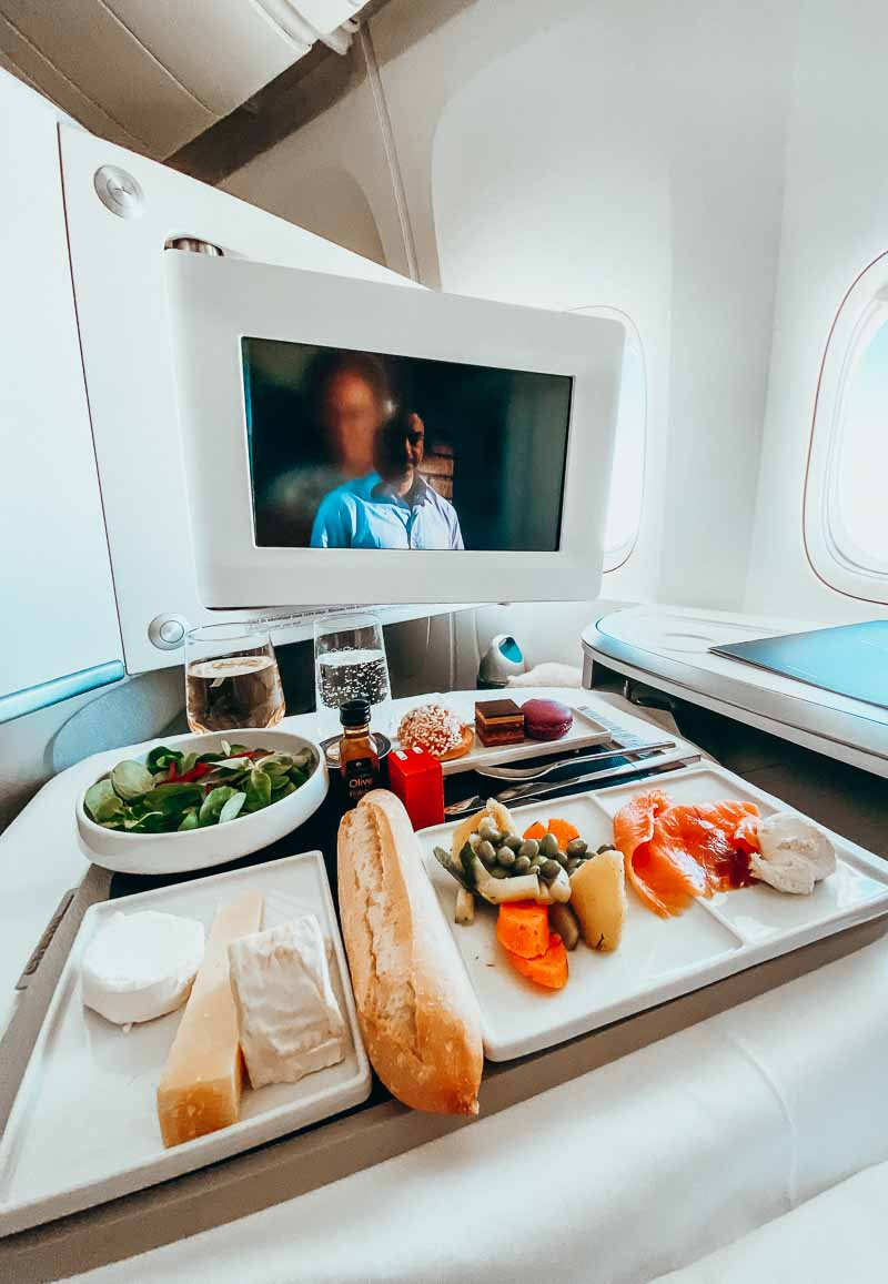 air france business class dining