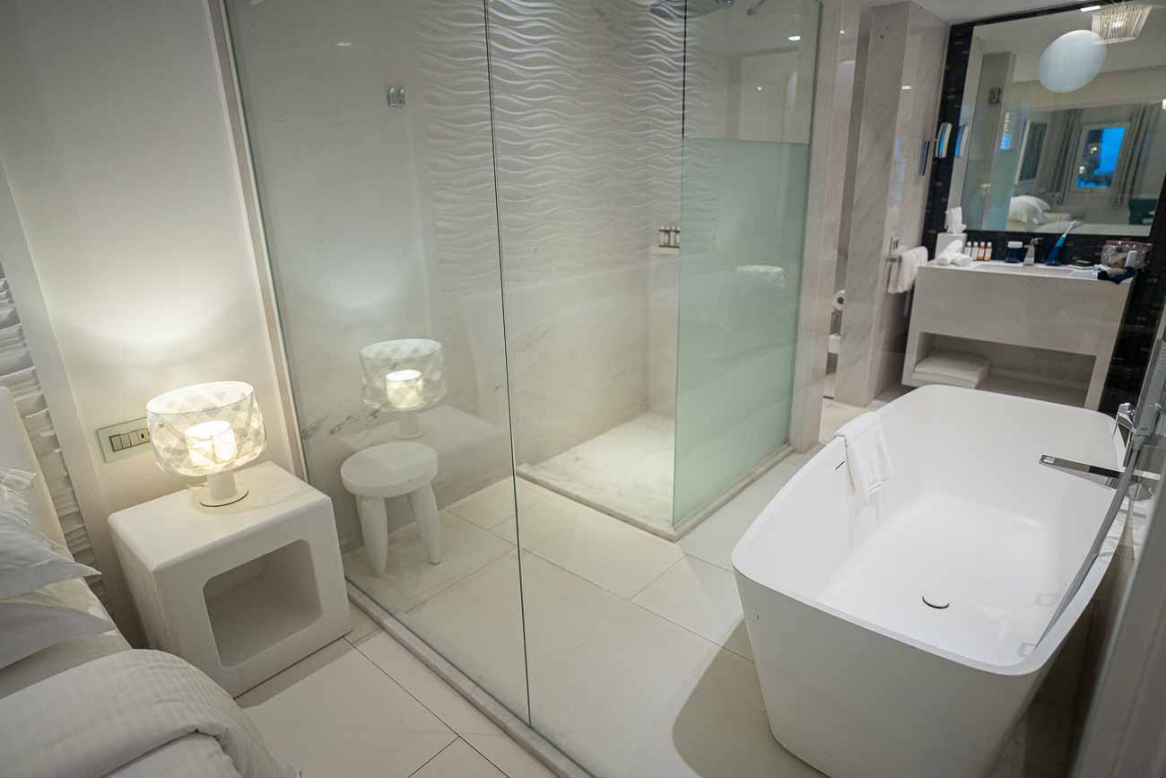 Myconian Ambassador thalasso suite with shared pool