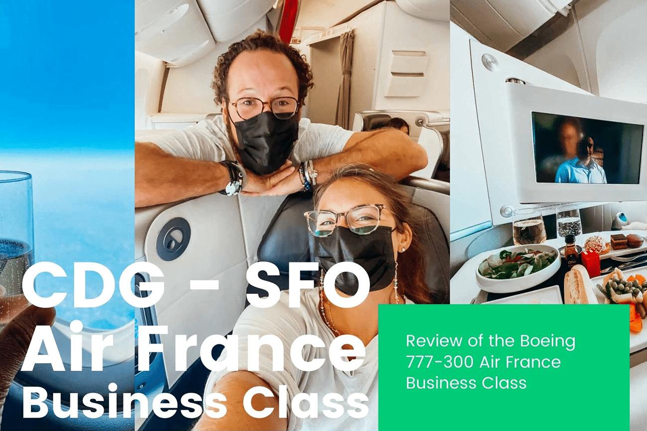 air france business class flight review