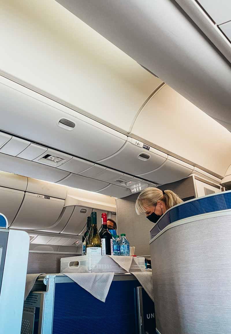 Seat 3L United Polaris boeing 767-300